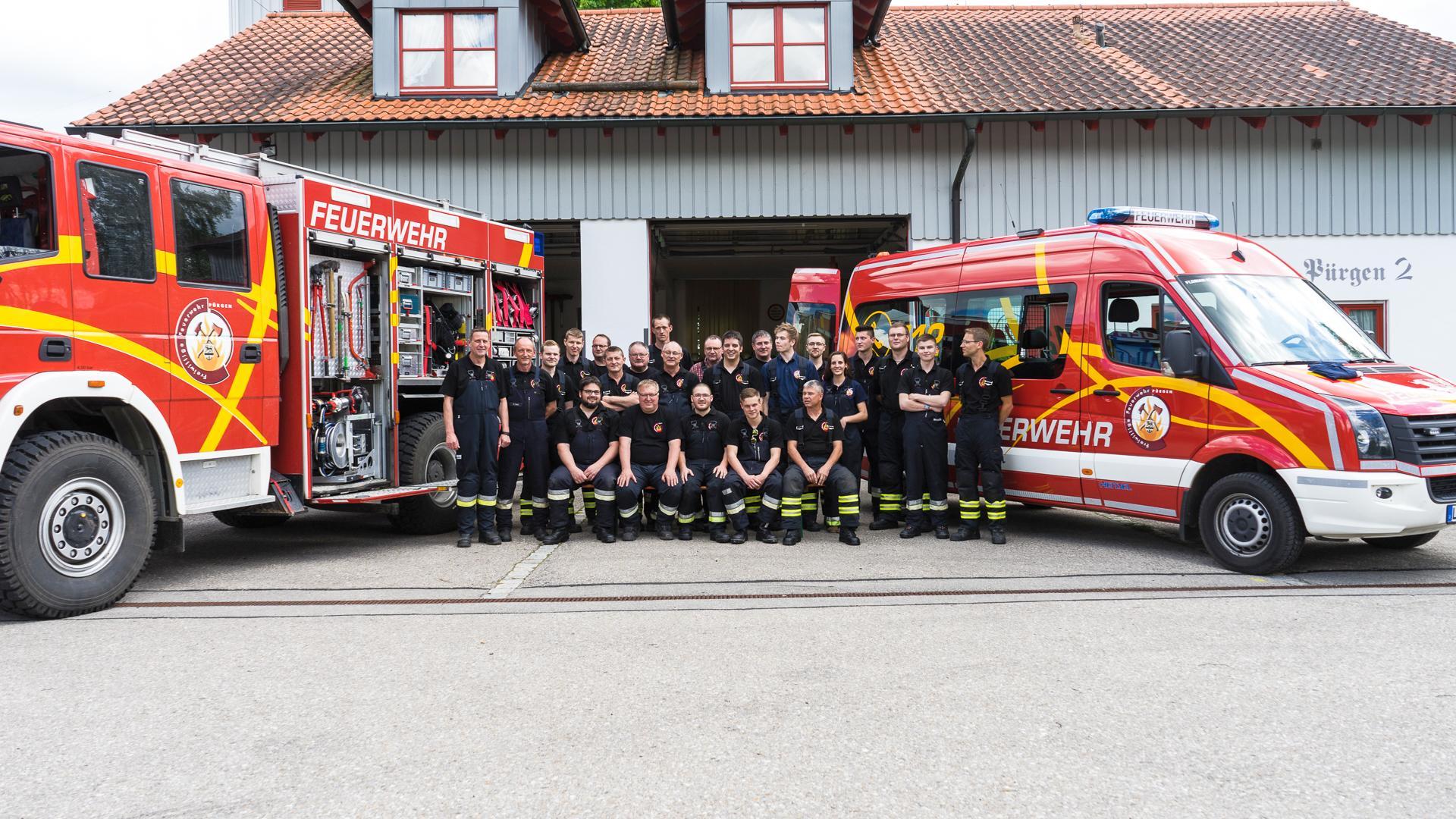 Das Team der Feuerwehr Pürgen